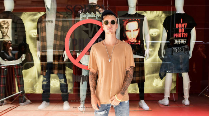 Justin Bieber Brings Purpose Tour Merch to Urban Outfitters