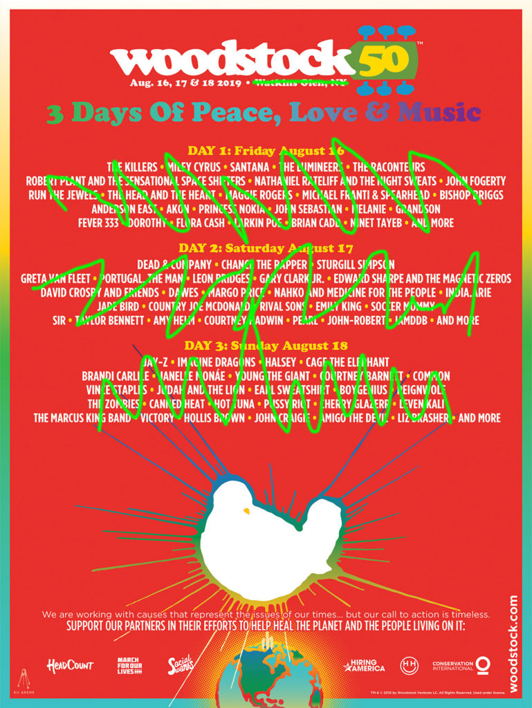 Woodstock 50 moves to Maryland, but where are the artist